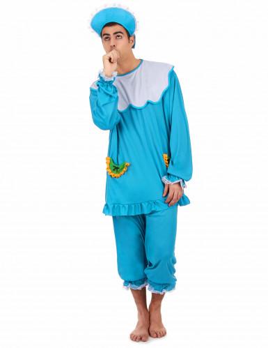 Blauw baby kostuum voor mannen