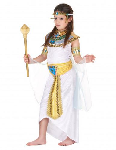 Wit en goudkleurig Egyptisch kostuum voor meisjes-1