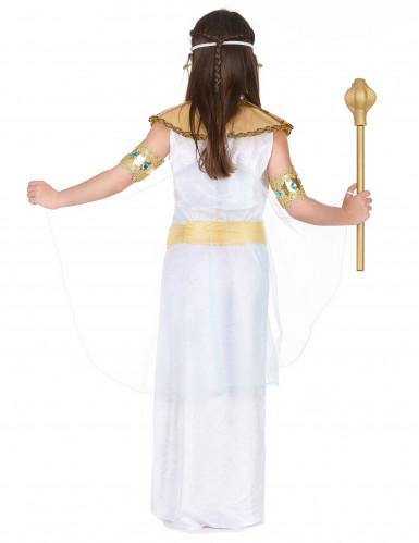 Wit en goudkleurig Egyptisch kostuum voor meisjes-2