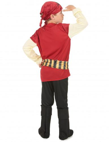 Rood en goudkleurig piratenkostuum voor jongens-2