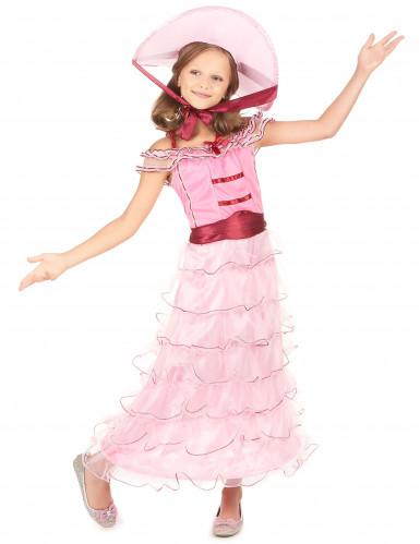 Roze Scarlett O'Hara outfit voor meisjes