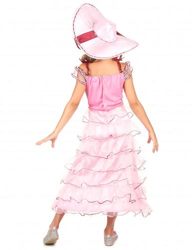 Roze Scarlett O'Hara outfit voor meisjes-2
