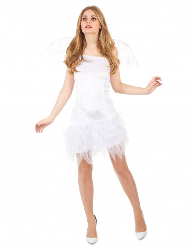 Sexy engel kostuum met tule stof voor vrouwen