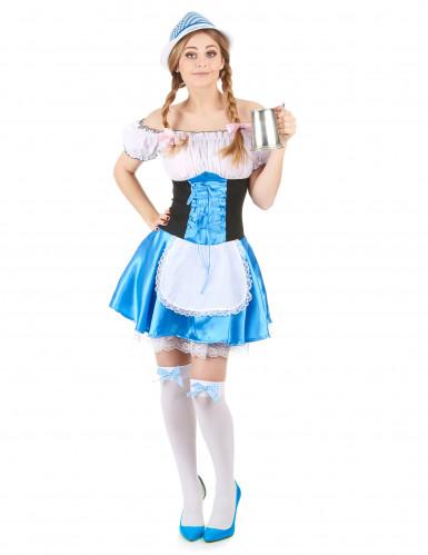 Blauw Oktoberfest dirndl jurk voor vrouwen