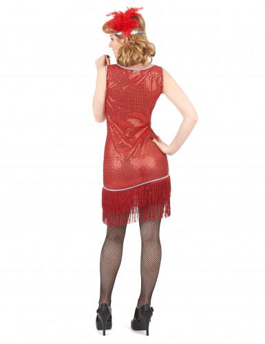 Rood charleston kostuum met lovertjes voor vrouwen-2