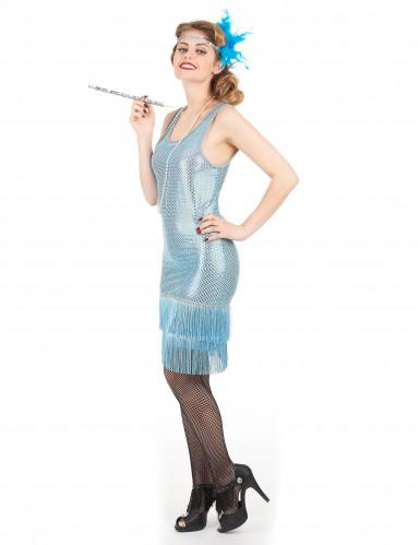 Blauw charleston kostuum voor vrouwen-1