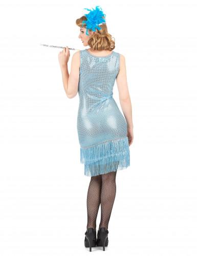 Blauw charleston kostuum voor vrouwen-2