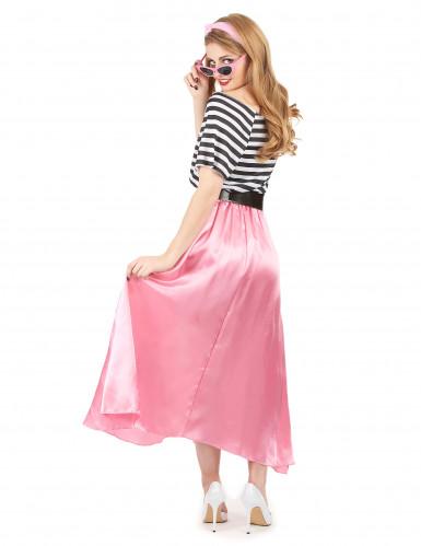 Jaren 50 roze retro kostuum voor vrouwen-2