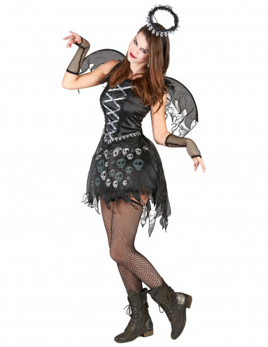 Zwarte engel kostuum voor vrouwen-1