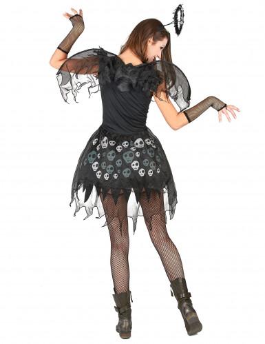 Zwarte engel kostuum voor vrouwen-2