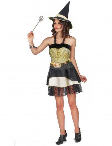 Halloween kostuum van heks voor dames-1