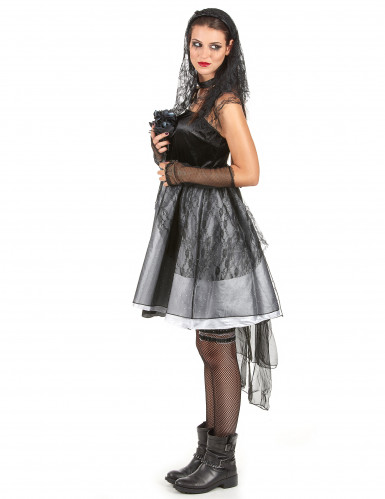 Gothic bruidskostuum voor vrouwen-1