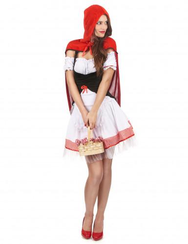 Roodkapje kostuum met cape voor dames