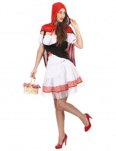 Roodkapje kostuum met cape voor dames-1