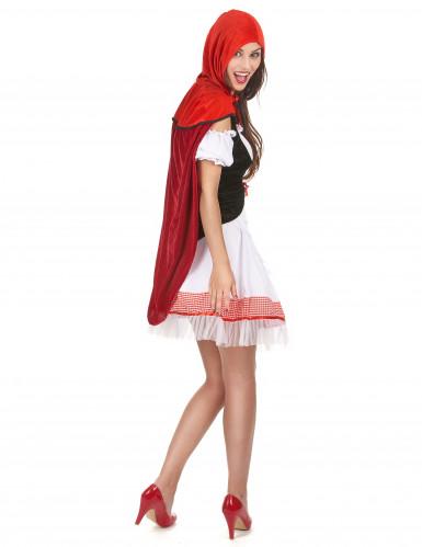 Roodkapje kostuum met cape voor dames-2