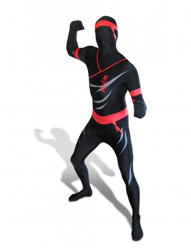 Morphsuits™-vermomming als ninja voor volwassenen