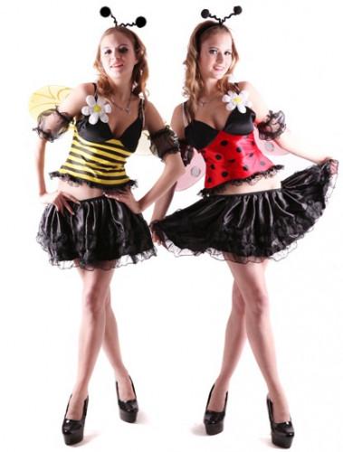 Omkeerbare vermomming als bij en lieveheersbeestje voor vrouwen