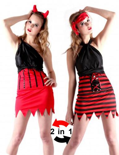 Piraten- en duivelskostuum voor vrouwen