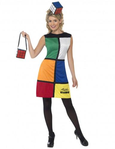 Rubik's Kubus™-kostuum voor vrouwen