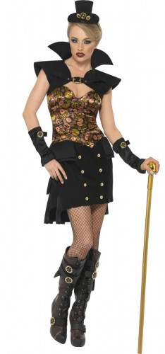 Kostuum van vampier Steam Punk Halloween voor dames