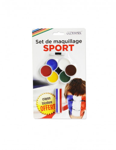 Make-up voor supporters in 7 kleuren met 3-in-1-potlood met penseel