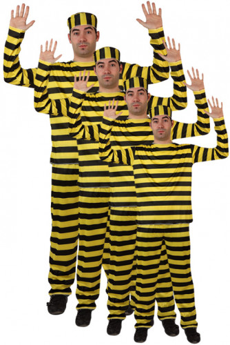 Groepskostuum beroemde gevangene