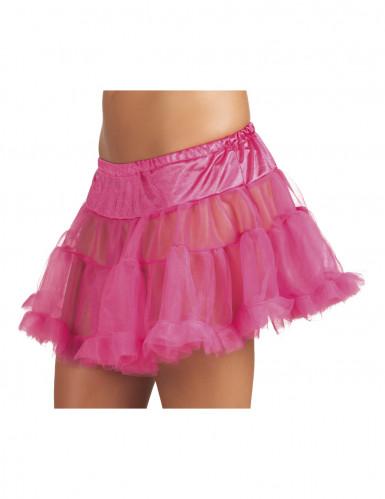 Roze onderrok in tule voor vrouwen