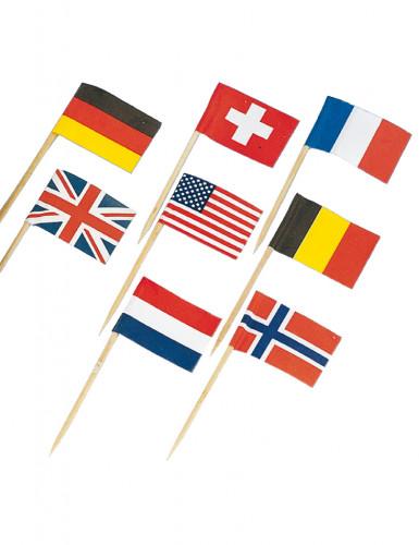Bijpassende mini vlaggetjesprikkers