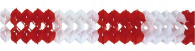Rood-wit papieren slinger