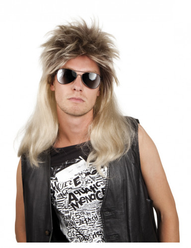 Blonde pop-rockpruik voor mannen