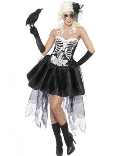 Gothic skelettenkostuum voor vrouwen