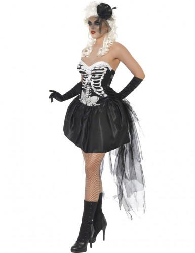 Gothic skelettenkostuum voor vrouwen-1
