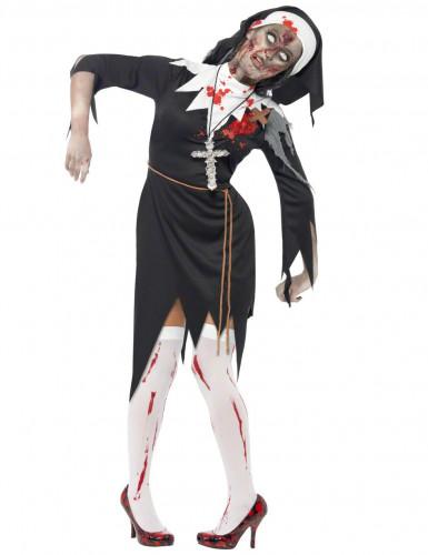 Religieus halloweenzombiekostuum voor dames