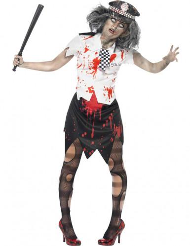 Zombiepolitiepak voor dames (halloween)