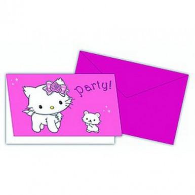 6 uitnodigingen van Charmmy Kitty™