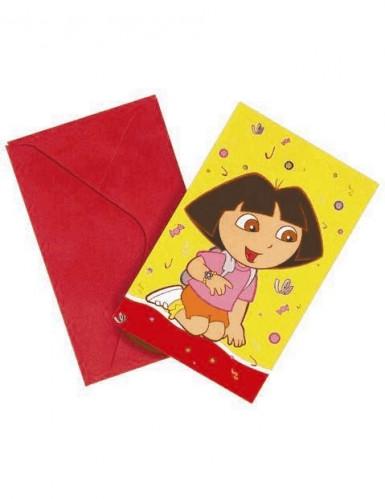6 uitnodigingen van Dora the Explorer™