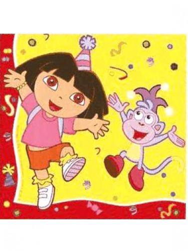 20 papieren servetten van Dora the Explorer™