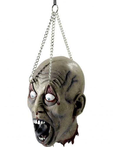 Versiering in de vorm van een opgehangen hoofd Halloween