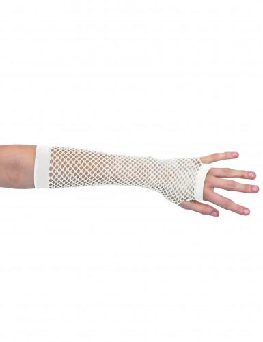 Witte nethandschoenen zonder vingers voor volwassenen