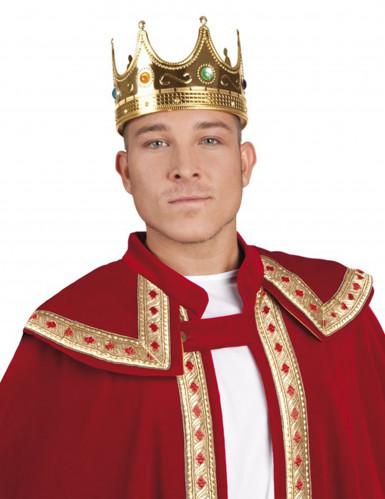 Goudkleurige koningskroon voor volwassenen