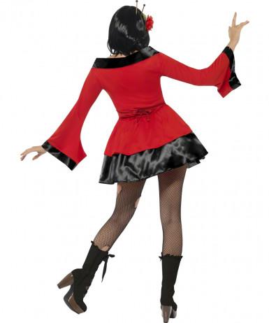 Halloweenvermomming als gothic geisha voor vrouwen-2