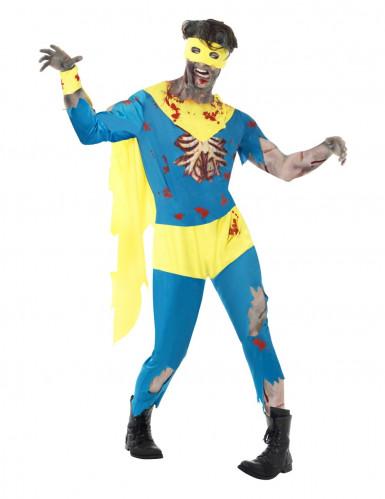 Super held zombie kostuum voor heren Halloween kleding