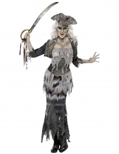 Kostuum van een monsterpiraat voor volwassenen Halloween