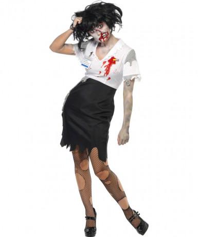 Vermomming als zombiesecretaresse voor vrouwen Halloween