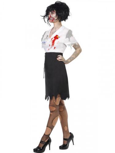 Vermomming als zombiesecretaresse voor vrouwen Halloween-1