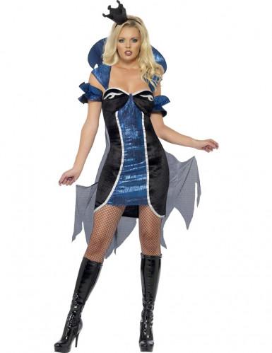 Halloweenvermomming als koningin van de onderwereld voor vrouwen