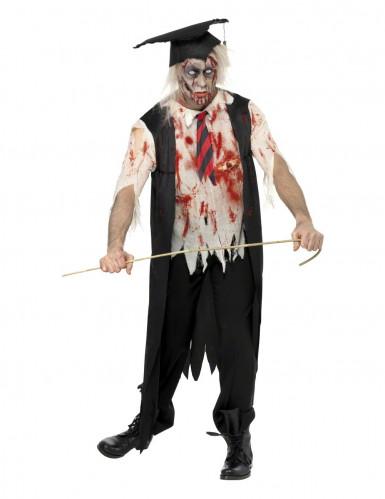Halloweenvermomming als net afgestudeerde zombie voor volwassenen