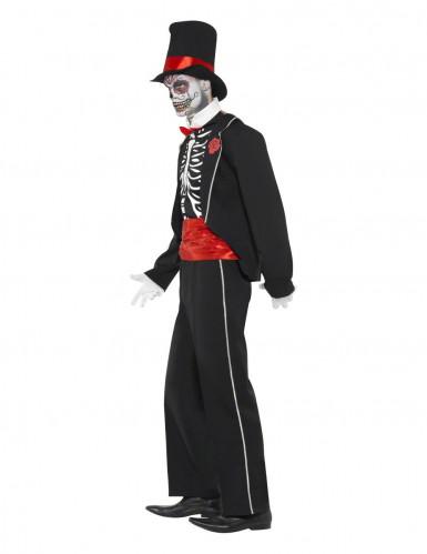 Halloweenvermomming als gentlemanskelet voor volwassenen-2