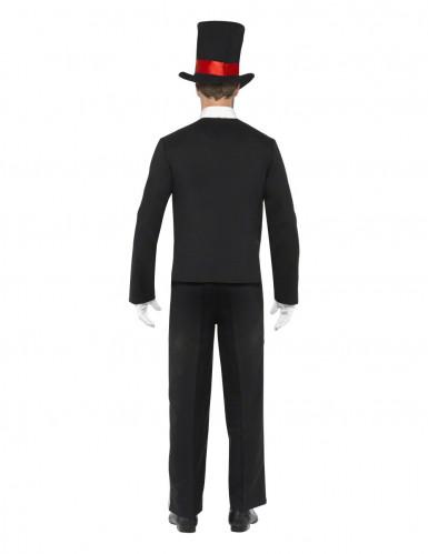 Halloweenvermomming als gentlemanskelet voor volwassenen-1