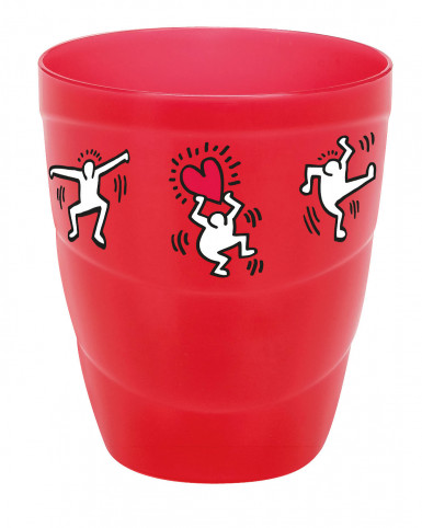Keith Haring™-set met kan + 4 bekers-1